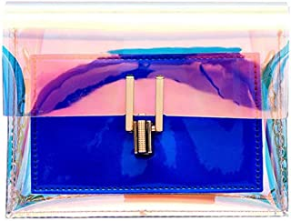 Women Laser Transparent Crossbody Bags Messenger Shoulder Bag Beach Polychromatic