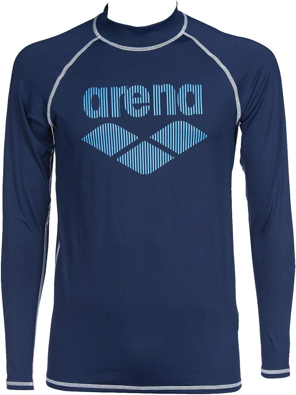 Arena Men's Long Sleeve Rash Guard Swim Shirt with Uv Sun Protetion