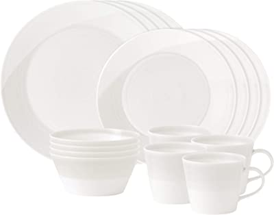 Royal Doulton 1815 White Collection 16-Piece Dinnerware Set