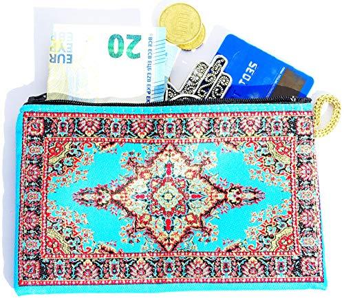 Monedero Turco Tradicional con Cremallera - Ideal para Monedas, Tarjeta, Llaves 15 CM X 10 CM