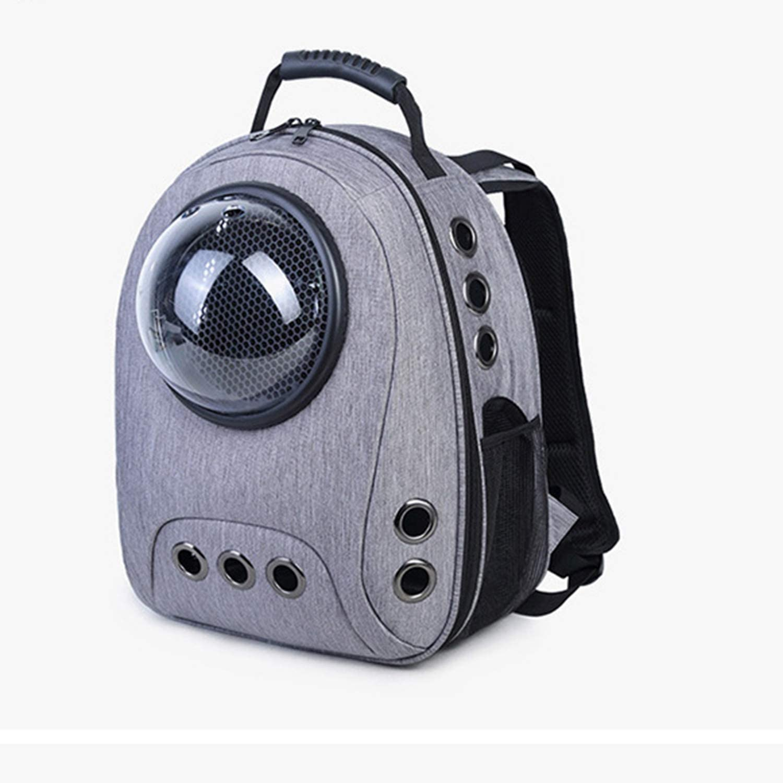 MAOMEI Pet Bag, Canvas Space Capsule, Pet Backpack, Transparent, Breathable, Shoulders, Portable, Size Cat Bag