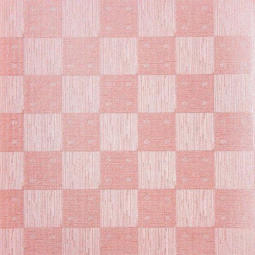 Design Faltpapiere, Karo-Design, quadratisch, 10 x 10 cm, 100 Blatt | Papier für verschiedene Falttechniken, Origami, Fleurogami, Bastelpapier | Origami-Papier (rosa)