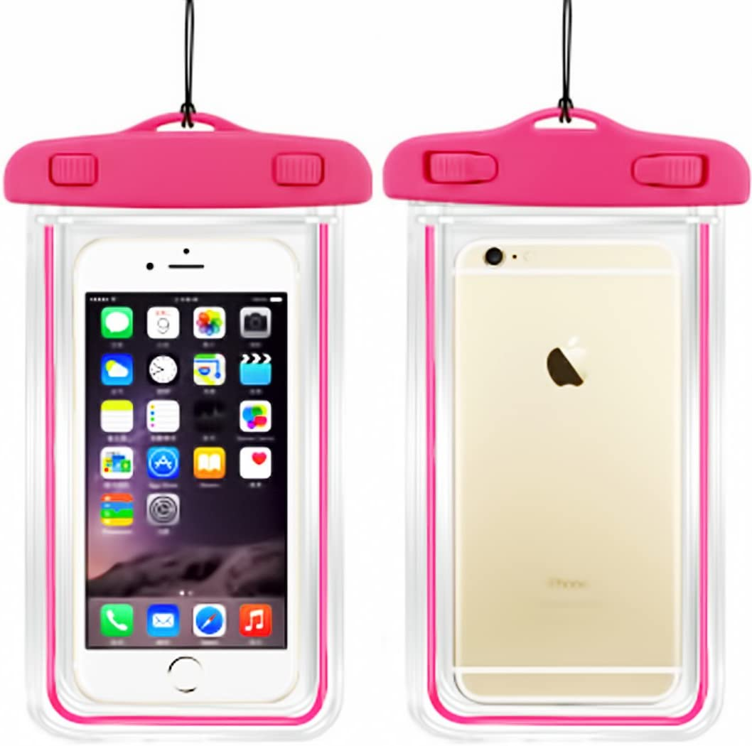 Universal Waterproof Case, Cellphone Dry Bag Pouch Compatible with iPhone 7 6s 6 Plus, SE 5s 5c 5, Galaxy s8 s7 s6 Edge, Note 5 4,LG G6 G5,HTC 10,Sony Nokia up to 6.5