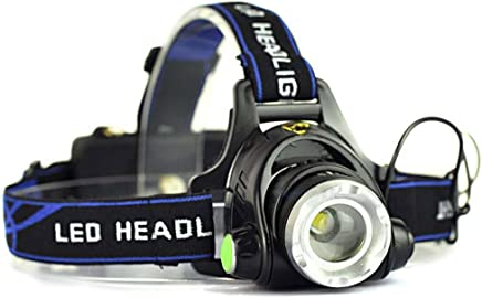 5000LM LED Rechargeable Headlamp Zoomable Headlight CREE XML T6 Head Torch