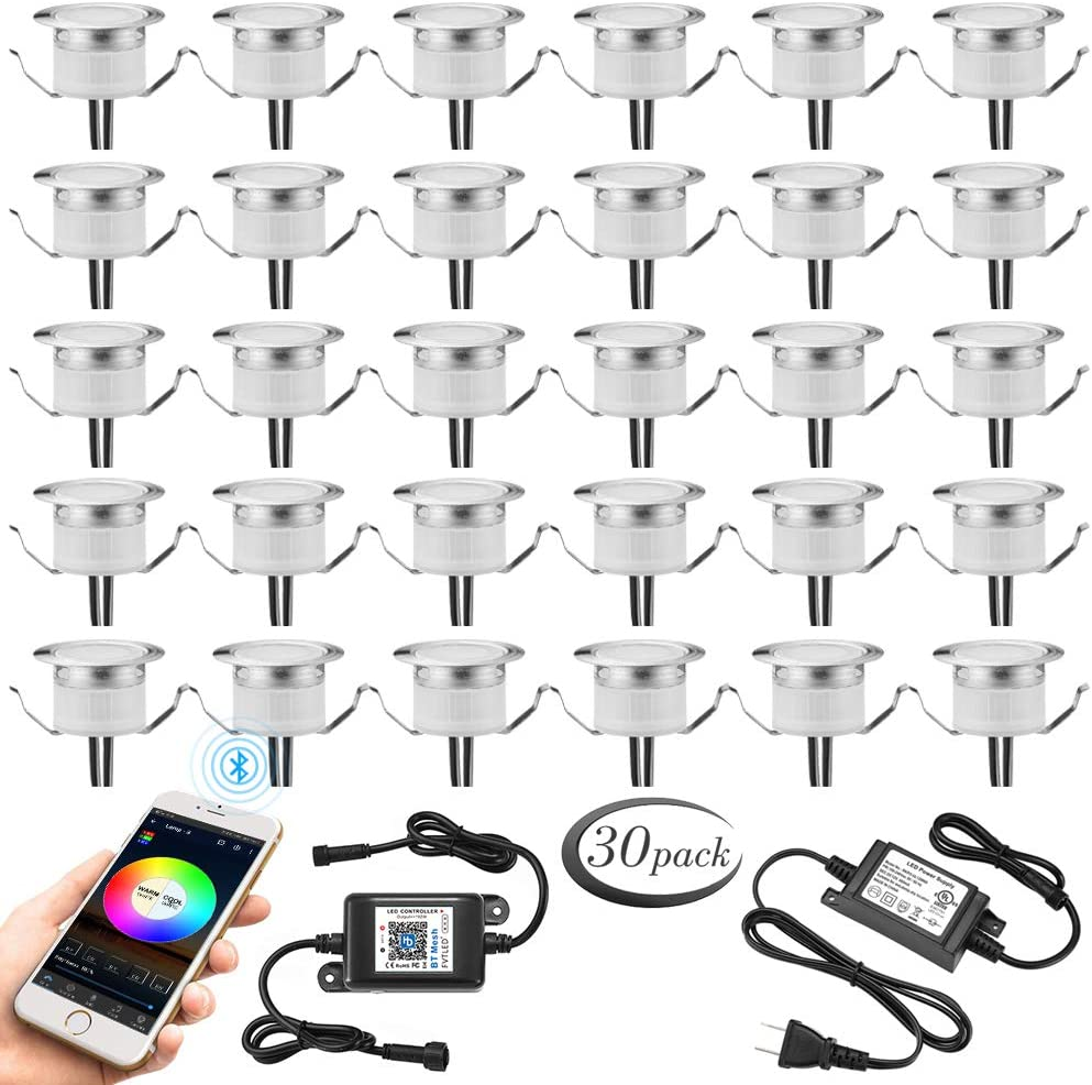Popular brand in the world Bluetooth Deck Lights Max 68% OFF Set of Φ1.22