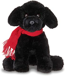 Bearington Cole Plush Plush Black Lab Puppy Dog Stuffed Animal, 7.5 inches