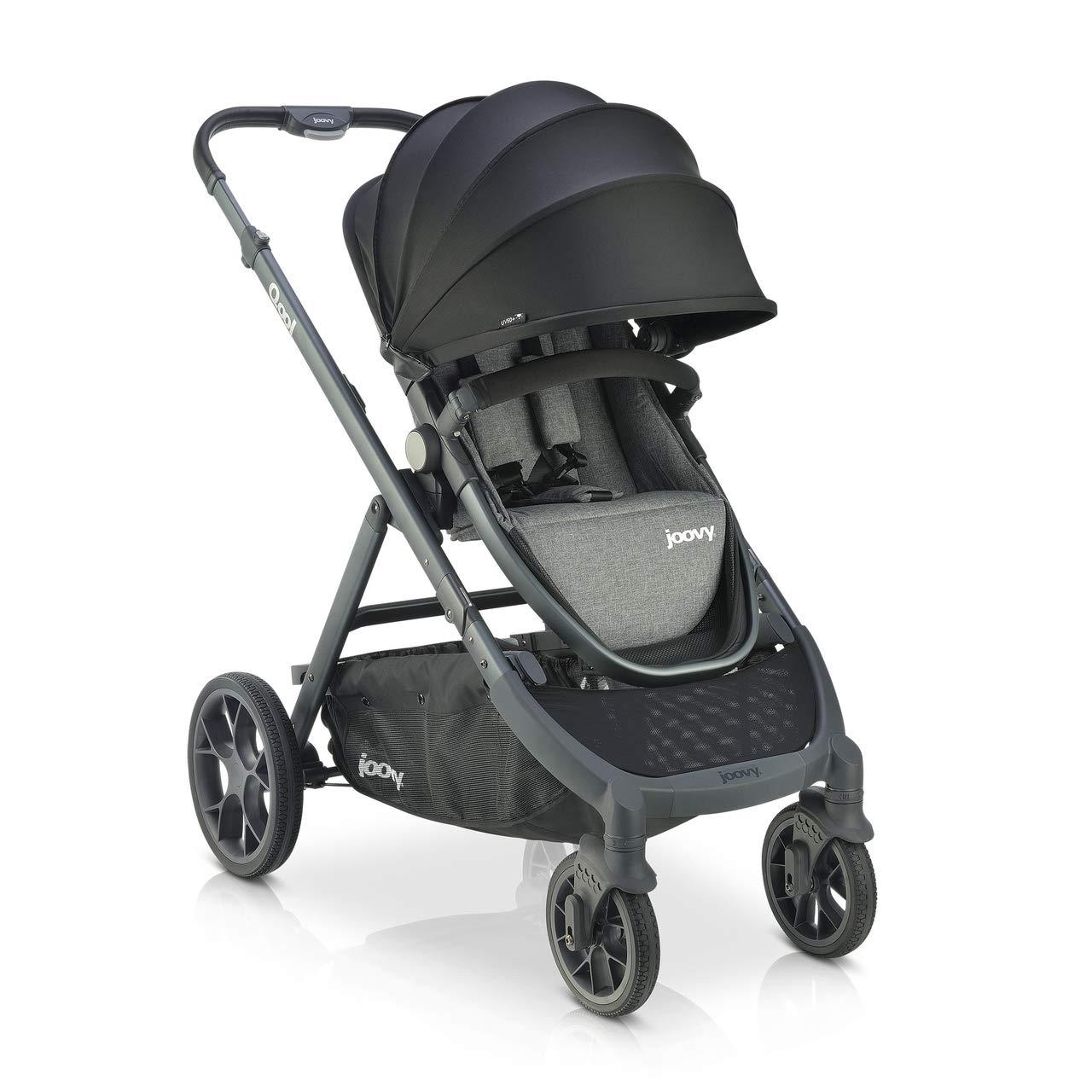 Joovy Qool Stroller, Customizable Stroller, Single, Double, Triple, Grey Melange