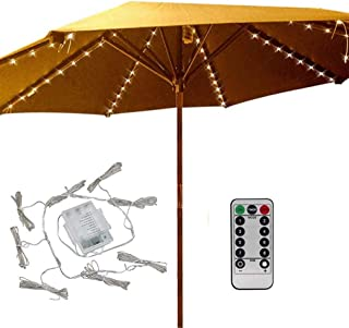 Patio Umbrella Lights 8 Lighting Mode 104 LED String Lights with Remote Control Umbrella..