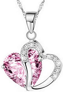 iLH Deals Fashion Women Heart Crystal Rhinestone Silver Chain Pendant Necklace Jewelry by ZYooh