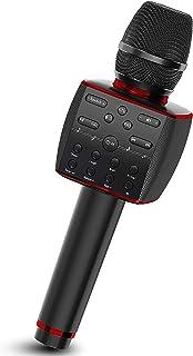 Karaoke Microphone Wireless, Bluetooth Dynamic Mic System with Three Powerful Speakers, Portable Karaoke Machine Singing H...