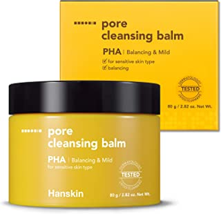 Hanskin PHA Pore Cleansing Balm, Gentle Blackhead Cleanser and Makeup Remover for Sensitive Skin - Official 2019 Exclusive USA Exported Version [PHA/2.82 oz]