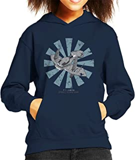 O'Neill Class Ship Retro Japanese Stargate SG1 Kid's Hooded Sweatshirt