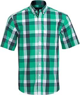 Short Sleeve Shirts for Men 100% Cotton Regular Fit Short Sleeve Button Down Shirts for Men