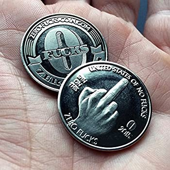 ZFG Inc Zero F s Given Giftable Novelty Quarter Coins Color Silver The Middle Finger 10-Pack