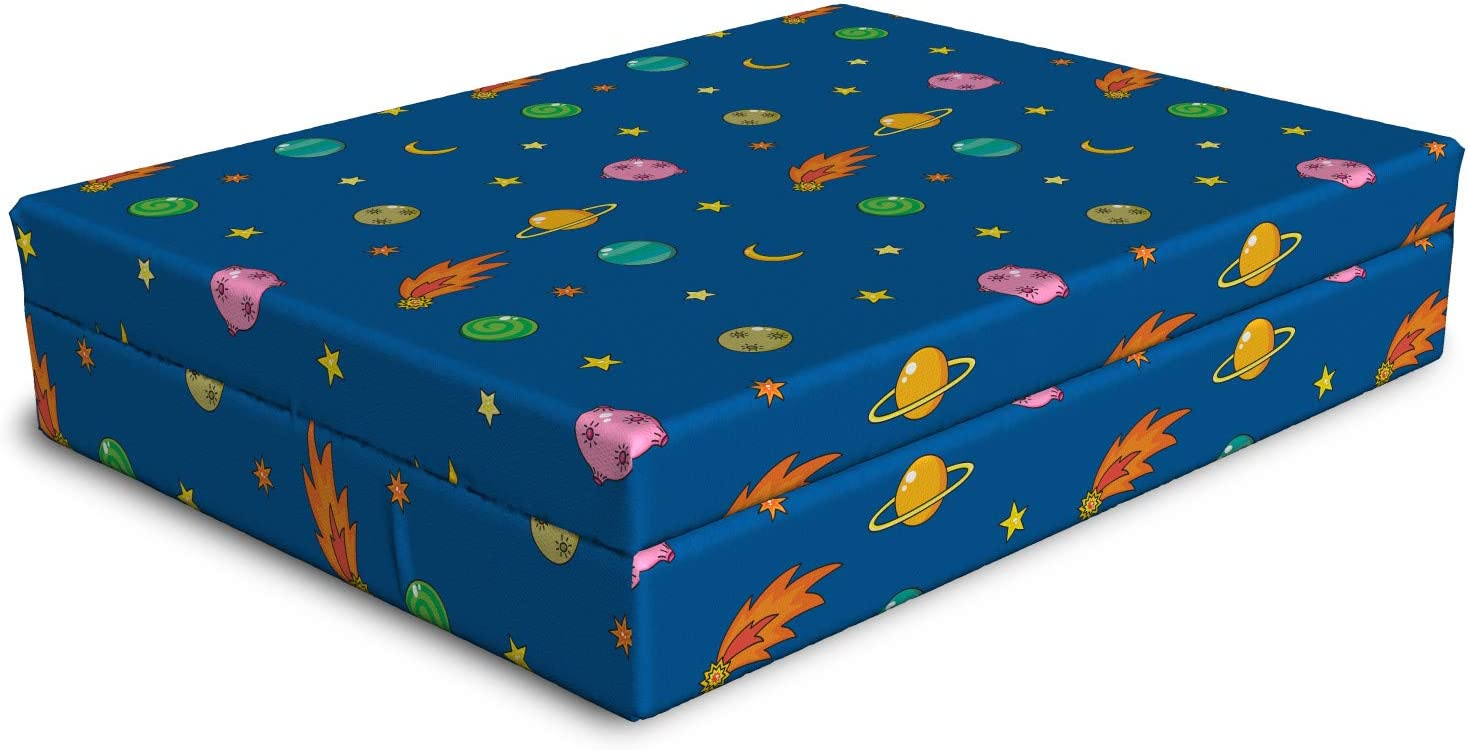 Ambesonne Outer Popular popular Space Ranking TOP7 Dog Bed Alien Planets Satu Shooting Stars