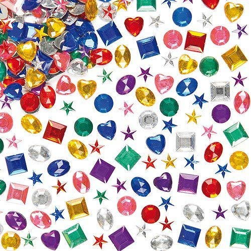 Baker Ross Acryl-Schmucksteine im Vorteilspack - zum Basteln und Aufkleben für Kinder - für Grußkarten und Kostüme - 1000 Stück