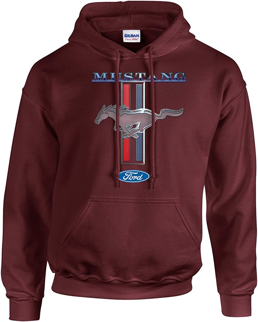 Ford Mustang Hooded Sweatshirt Mustang Pony Design Military