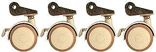 Zwenkwielen Bewegende zwenkwielen Zwenkwielen Zwenkwielen met remmen voor bureaus Kasten Draaistoelen 4 wielbelasting 150K...