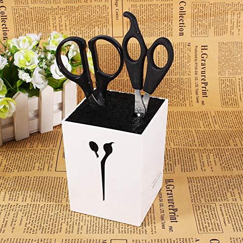 Soporte de tijeras de salón para peluquería de acrílico estable, salón de peluquería para salón de peluquería en casa (blanco)