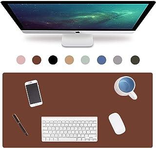 拡張レザーオフィスデスクパッド、大型防水ゲーミングマウスパッド滑り止めスエード滑らかな表面ライティングマット超薄型2mm (Color : Brown, Size : 800x400mm)