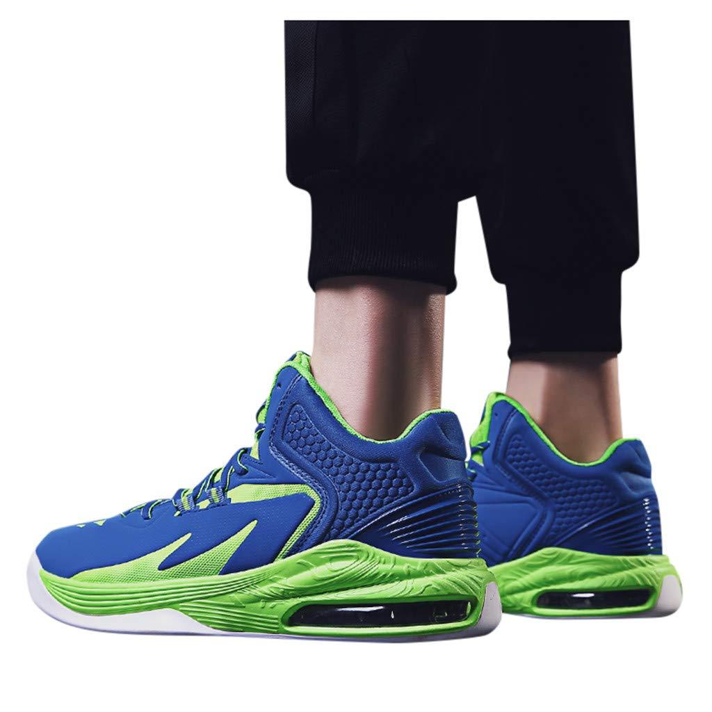 RYTEJFES Zapatillas De Baloncesto Antideslizantes A La Moda para Hombre Zapatos Deportivos Al Aire Libre Zapatos Deportivos Corte Alto Resistentes A La Moda Zapatillas Hombre Tallas Grandes: Amazon.es: Hogar