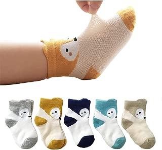 Infant Cotton Socks Newborn Cool Mesh Cute Animal 5 Pairs