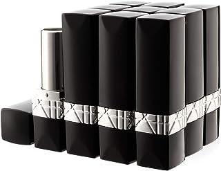 Allwon 10st zwarte lege lippenstiftbuizen DIY lippenbalsemcontainer (rechthoekige buis)