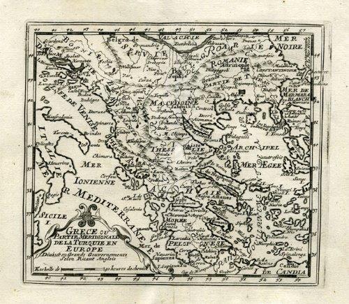 Antiguo ThePrintsCollector mapa-Grecia-Grece-Turquie