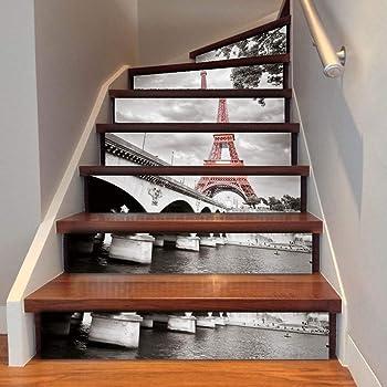 SERFGTFH DIY 3D Escalier Tuile Fond DImperm/éable Amovible Autocollants Autocollant Autocollants pour Contremarche Escalier Ou Une Maison