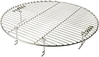 only fire Stainless Steel Cooking Grate Grid Fits for Charcoal Kettle Grills Like Weber,Char-Broil and Ceramic Grills Like Large Big Green Egg,Kamado Joe Classic,Pit Boss,Louisiana Grills,17 1/2 Inch