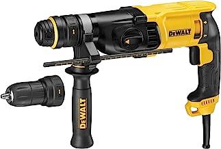 DeWalt SDS-plus Kombibohrhammer / Schlagbohrmaschine (800 Watt, max. Bohrleistung (Beton) 26 mm, Schnellwechsel-Bohrfutte...