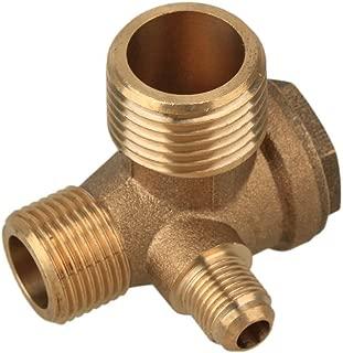Preamer 3-Port Brass Male Threaded Air Compressor Check Valve Central Pneumatic