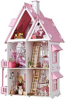 XYZMDJ Miniatyr dockhussatser, hantverk trä dockhus modell kit bästa gåvor för tonåringar och vuxna