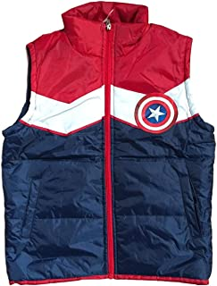 CAPTAIN AMERICA Licensed Gilet Jacket Padded Body Warmer for Boys