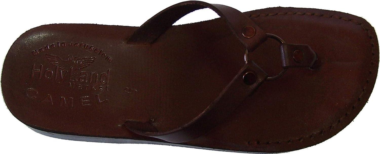 Holy Land Market Women/Girls Genuine Leather Biblical Flip Flops