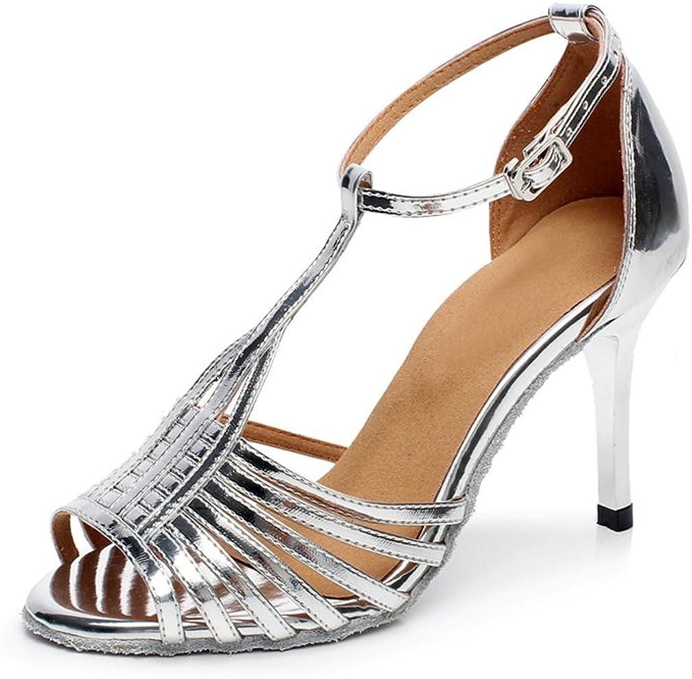 Minishion QJ6216 Women's Stiletto High Heel Ballroom Salsa Latin