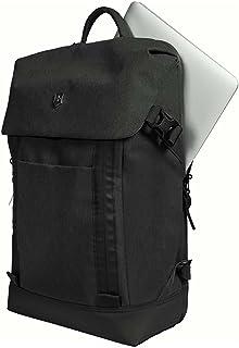 Victorinox Deluxe Flapover Laptop Backpack Poliéster Negro Mochila - Mochila para portátiles y netbooks (Poliéster, Negro, Monótono, Unisex, 290 mm, 140 mm)