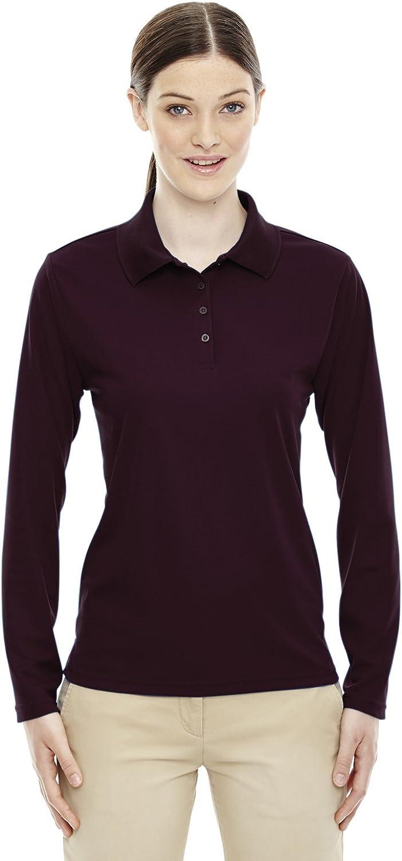 Ash City Core 365 Pinnacle Ladies Performance Pique Polo Shirt, Burgundy 060, 3XL