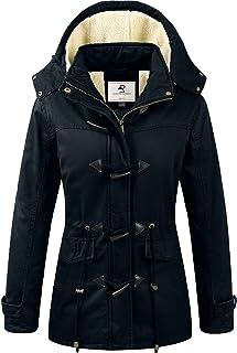 Sponsored Ad - Uoiuxc Women's Warm Winter Coat Hooded Fleece Lined Parkas Jacket
