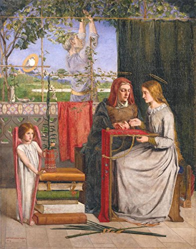 Gifts Delight Laminated 16x21 Poster Dante Gabriel Rossetti - The Girlhood of Mary Virgin