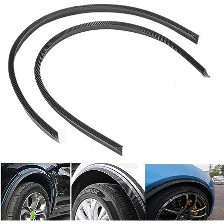 Keyzone 2 Stück Auto Kohlefaser Universal Radlauf Schutzleisten Kotflügel Verbreiterungen Leiste Gummi Streifen 120cm Auto