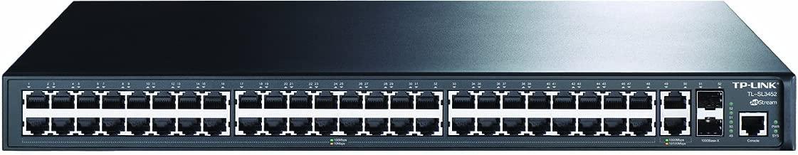 TP-Link JetStream 48-Port 10/100Mbps + 4-Port Gigabit L2 Managed Switch(TL-SL3452)
