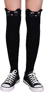 Over Knee High Socks for Women Cotton Cat Extra Long Knee High Stocking