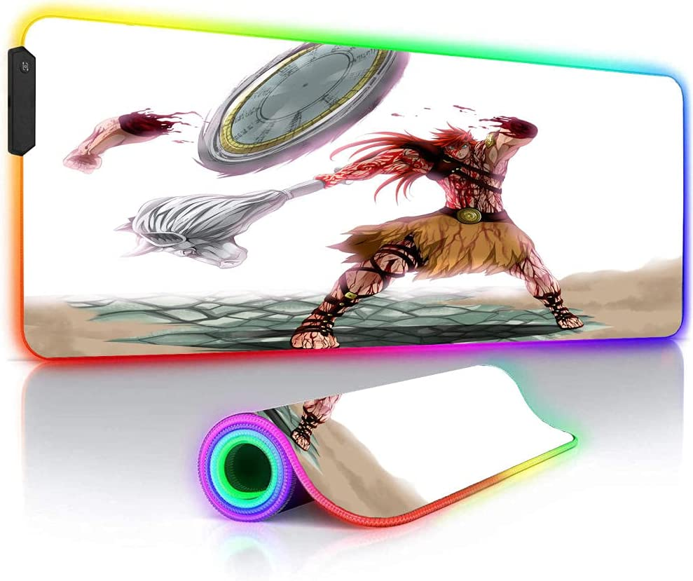 Mouse Pads Anime Record of Max 72% OFF RGB Ragnarok Oversize Pad White Miami Mall