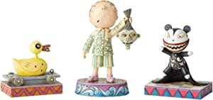 Enesco Disney Traditions by Jim Shore The Nightmare Before Christmas Timmy and Scary Toys Figurine Set, 3.5 Inch, Multicolor