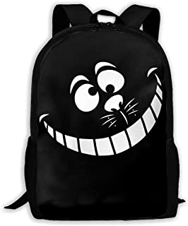 Mochila Cheshire Cat Face Fashion Outdoor Shoulders Bag Durable Travel Camping For Kids Backpacks