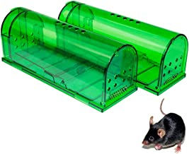 Humane Mouse Trap - Mouse Traps That Work – Best Mouse, Mice and Rat Trap – Plastic Traps Live Catch and Release Rodents, Safe Around Children and Pets (2Packs)