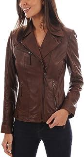 سترة جلدية للنساء من LL Leather LOVERS - جلد الخراف الشتاء خمر دراجة نارية سترة ركوب الدراجات النارية / معطف سباق
