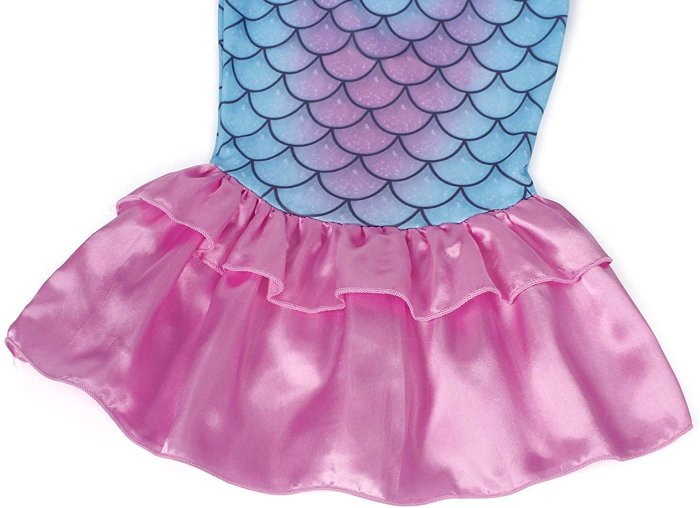 Jurebecia Vestito Sirena Bambina Ragazze Sirena Costume da Principessa Dress Up Party Fancy Birthday Halloween Kids Abiti con Accessori