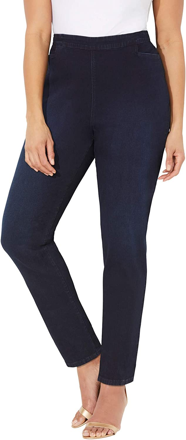 Catherines Women's Plus Size Essential Flat Front Pant